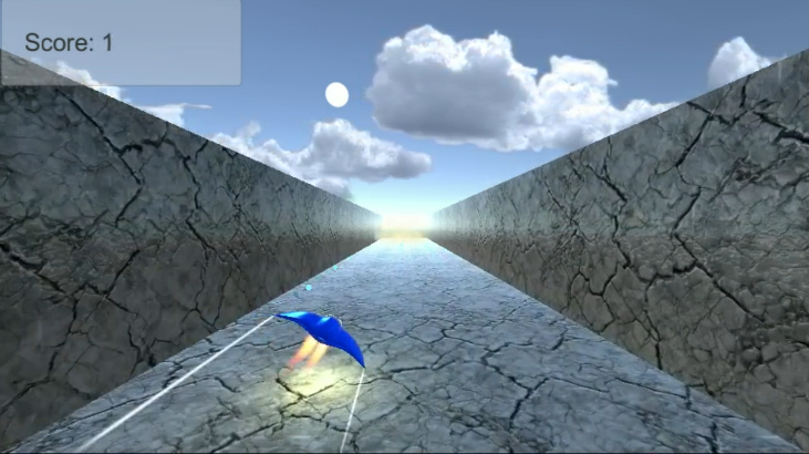 Flying in Flying Weapon using accelerometer controls.