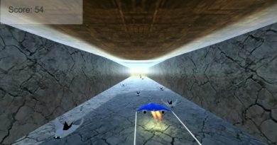 A swarm of enemies in Flying Weapon.